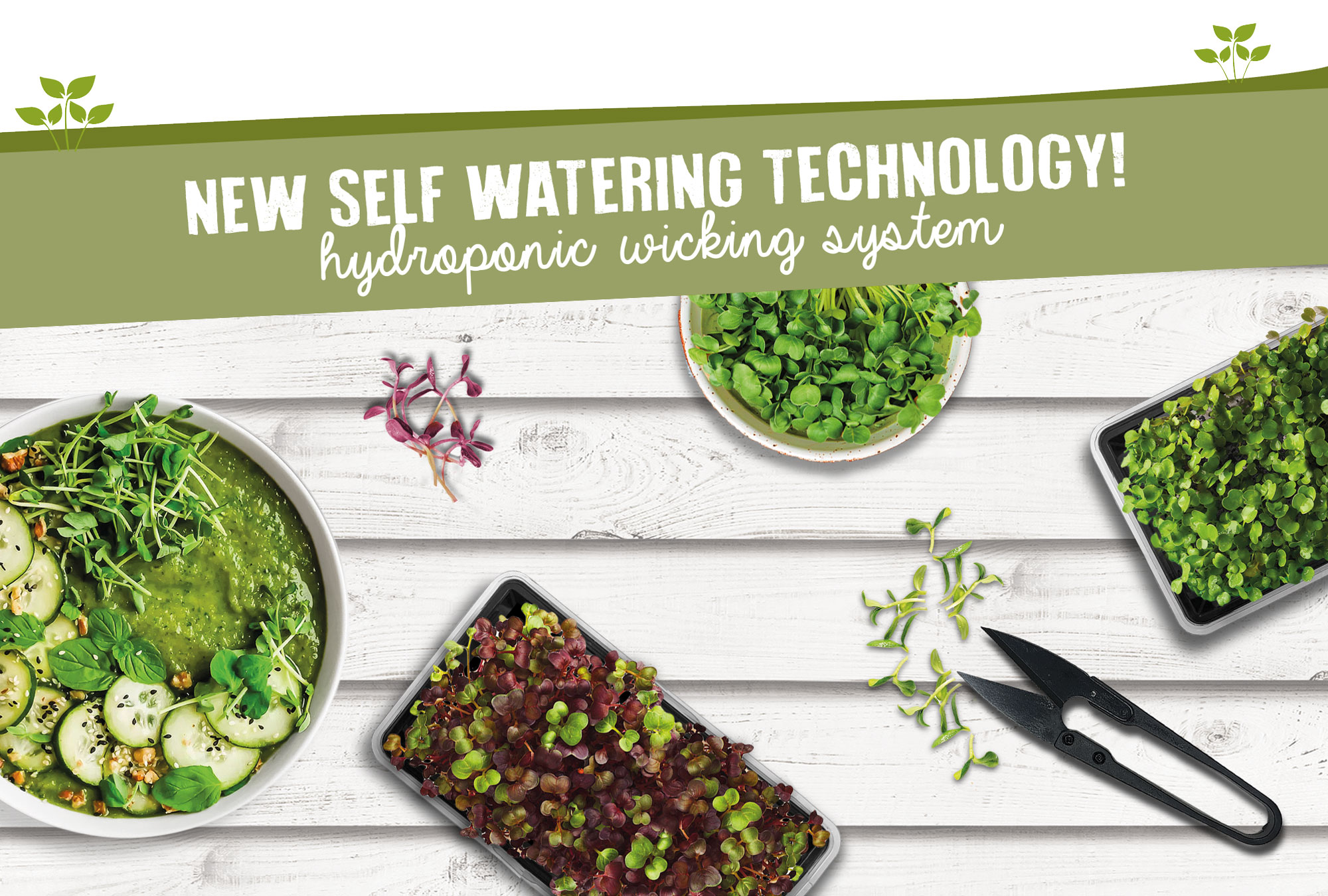 New Self Watering Technology! Hydroponic Wicking System